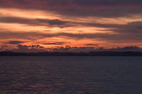 Dawn over Waiheke